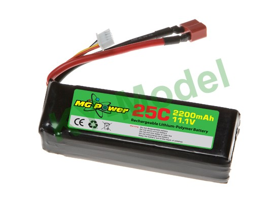 MG-111-25-2200 - MG Power Battery (11.1V 25C 2200mAh)